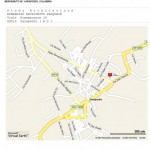 MAP ROAD CITY OF VARAPODIO, REGGIO CALABRIA, ITALY