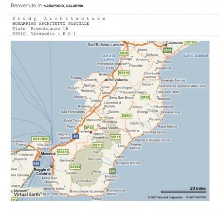 ROAD MAP REGGIO CALABRIA, ITALY