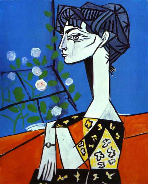 Pablo-Picasso-Jacqueline-with-Flowers